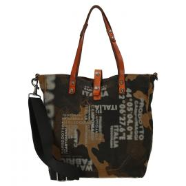 camouflage cognac stained grey print