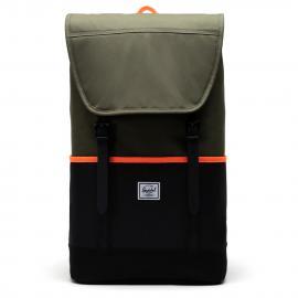 ivy green/black/shocking orange
