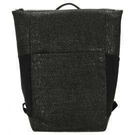 black print leather