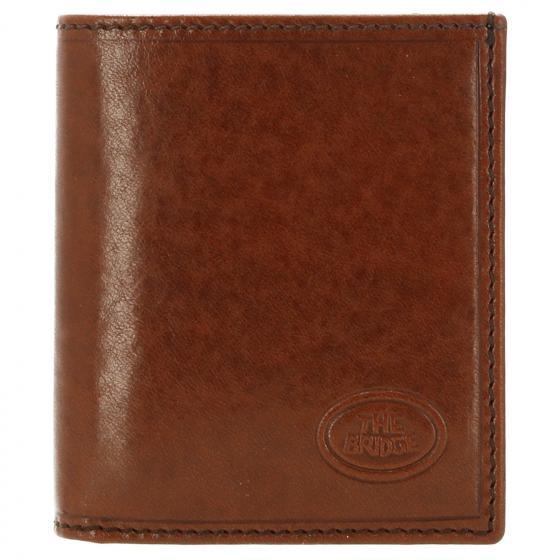 Story Uomo Kreditkartenbörse Leder 10 cm marrone