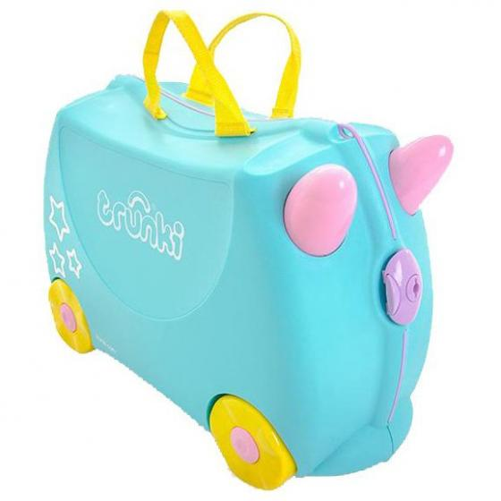Ride-On Koffer befahrbarer Kindertrolley 46 cm Una Unicorn