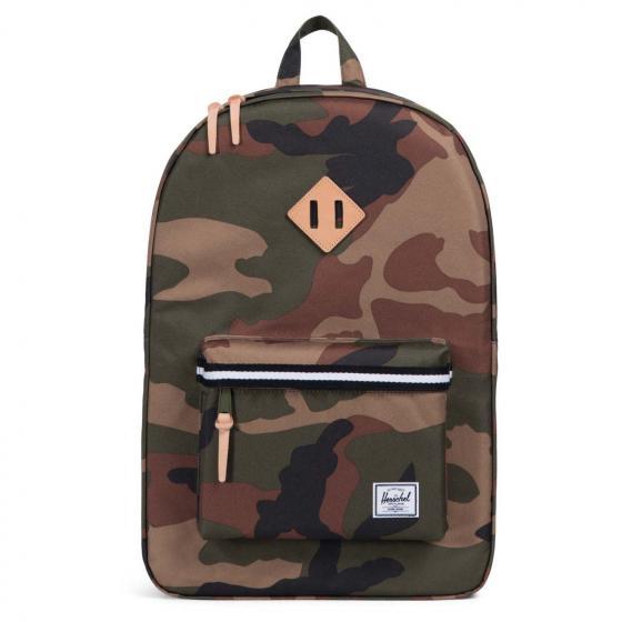 Heritage Backpack 45 cm woodland camo/black/white