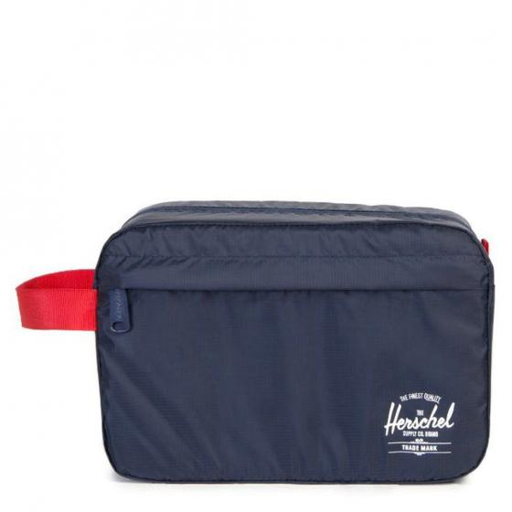 Travel Kulturbeutel 24 cm navy red