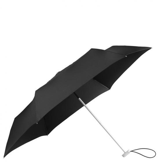 Alu Drop S 3 Sect. Manual Flap Taschenschirm black