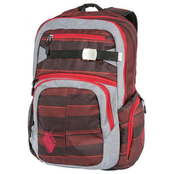 """Hero Laptop-Rucksack 52 cm 15"""" red stripes"""