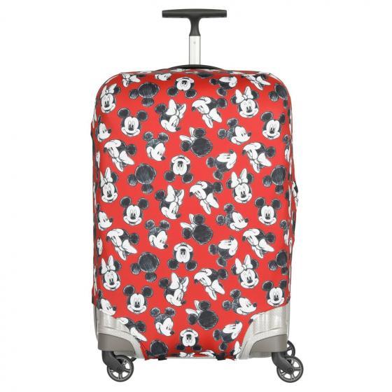 Disney Lycra Cover Kofferschutzhülle M mickey minnie red