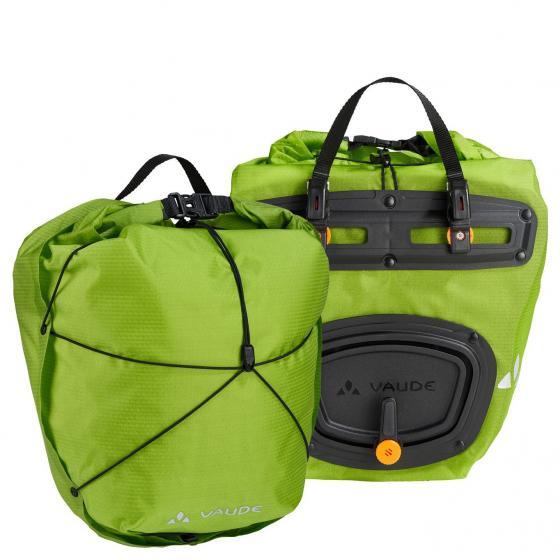 Bike Aqua Front Light /  zwei Gepäckträgertaschen 34 cm chute green