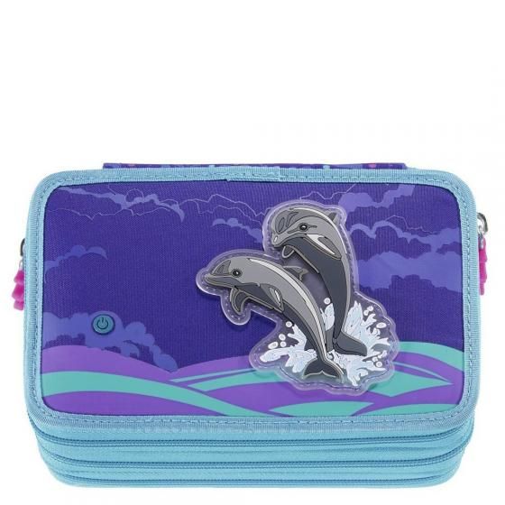 Federmäppchen XXL 20 cm Happy Dolphins Flash