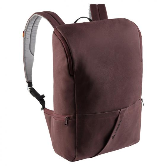 Aspe waxed Laptop-Rucksack 47 cm raisin