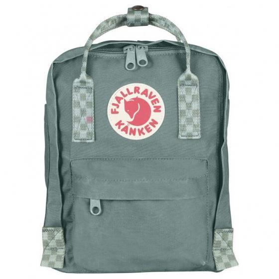 Kanken Mini Rucksack 29 cm frost green-chess pattern