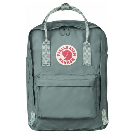 "Fjällraven Kanken Rucksack Laptop 13"" 35 cm frost green-chess pattern"