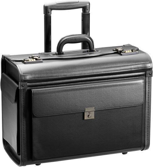 Business & Travel Pilotenkoffer mit 2 Rollen PU 48 cm Vortasche schwarz