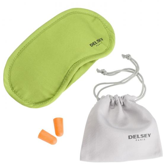 Travel Accessories Schlafmaske und Ohrstöpsel hellgrün