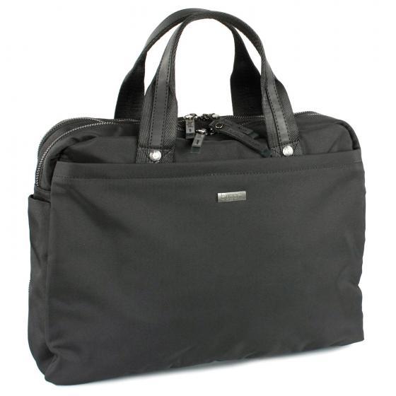 Contratempo Reißverschluss-Businesstasche M 38,5 cm schwarz