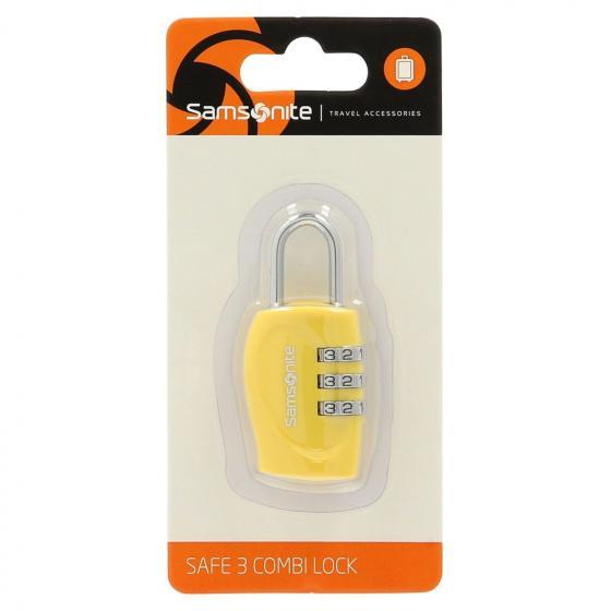 Travel Accessoire Safe 3 Combi Lock yellow