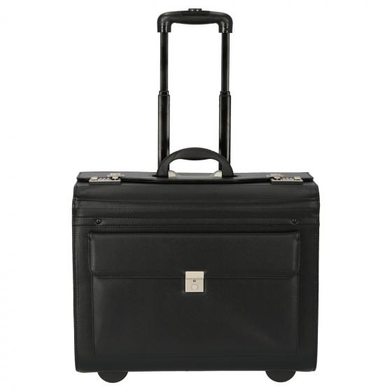 Pilotenkoffer 2-Rollen-Businesstrolley 50 cm schwarz