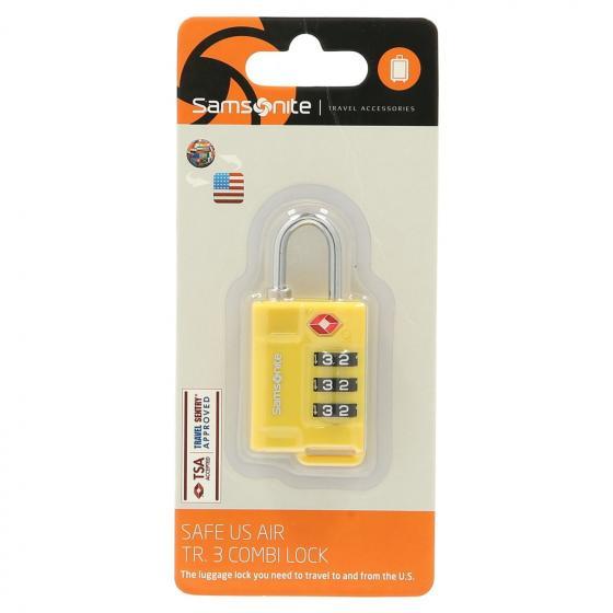 Travel Accessoire Safe Us 3 Combi Lock yellow