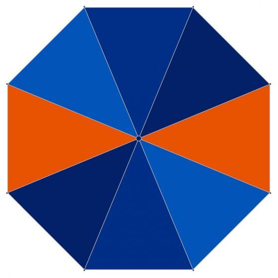 Zubehör Regenschirm mit Hülle 24 cm Arrow