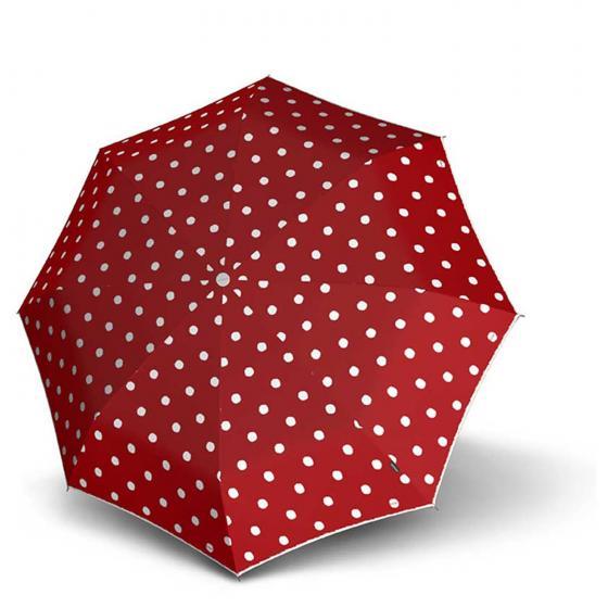 T.010 small Manual Taschenschirm / Regenschirm dot art red