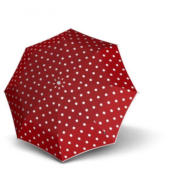 T.200 medium Duomatic Taschenschirm / Regenschirm dot art red