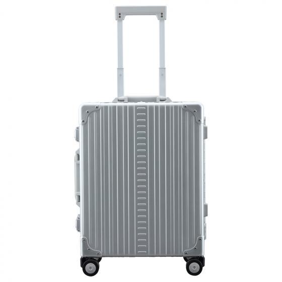 Aluminium Domestic 4-Rollen-Trolley 40 cm incl. Kleidersack platinum