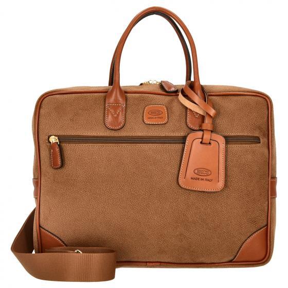 Life Briefcase Aktentasche 38 cm camel