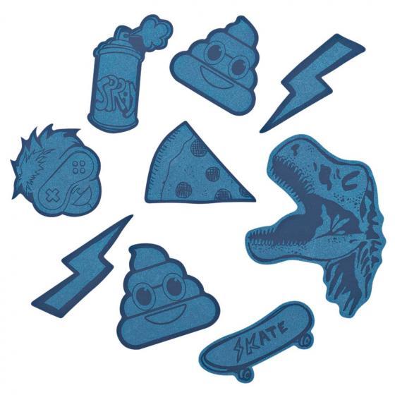 StickyRicky Reflektierendes Sticker-Set  Blue