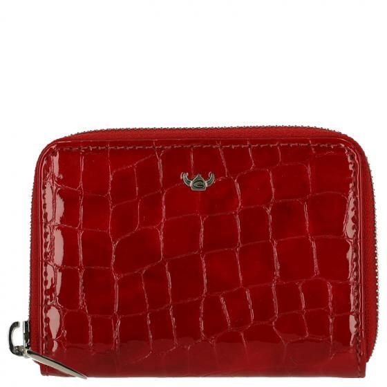 Cayenne Kroko-Look Damengeldbörse 11 cm rot