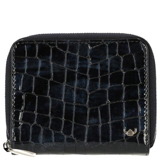 Cayenne Kroko-Look Damengeldbörse 12 cm nachtblau