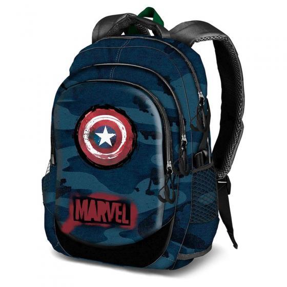 Marvel Captain America Laptop-Rucksack mit USB-Anschluss 44 cm
