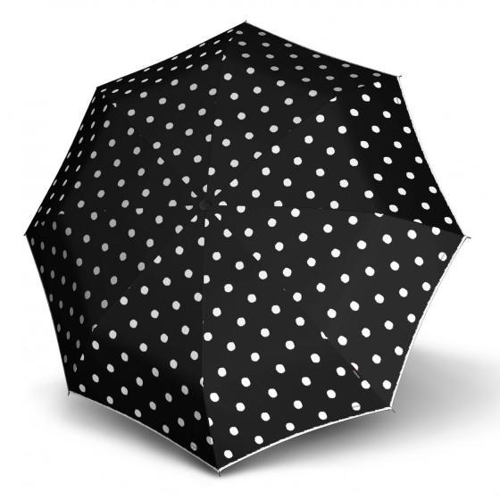 T.200 medium Duomatic Taschenschirm / Regenschirm dot art black