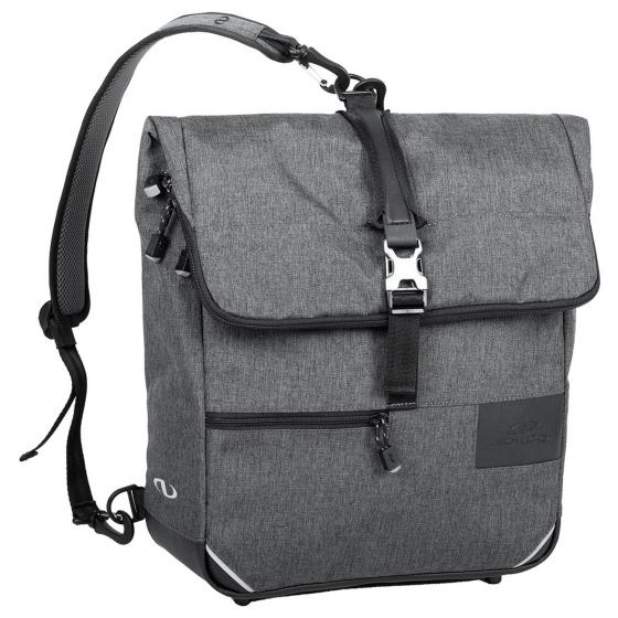 Portree Rucksack Tasche inkl. KLICKfix Vario E Haken 38 cm tweed grey