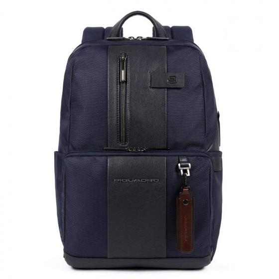 """Bagmotic Rucksack mit Laptopfach 14"""" aus rezykliertem Stoff 39 cm blue"""