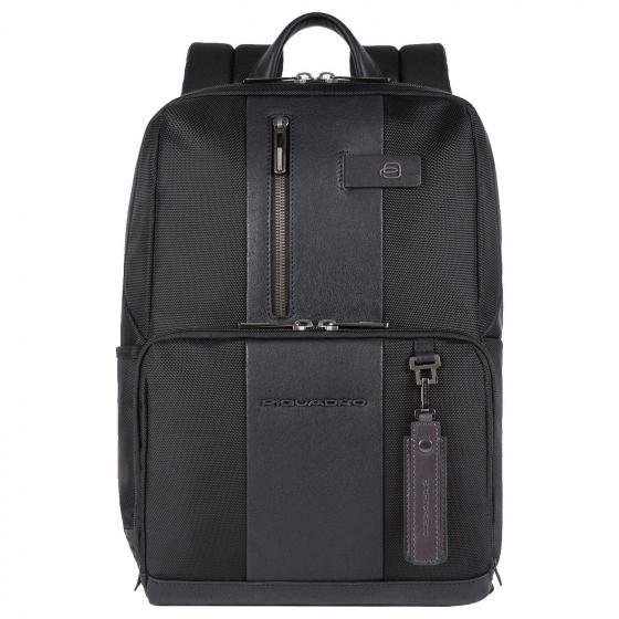 """Brief 2 Rucksack mit Laptopfach 14"""" aus rezykliertem Stoff 39 cm black"""