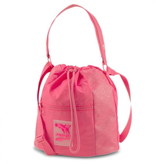 Prime Time Bucket Bag glowing pink