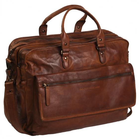 Black Label Rowan Laptoptasche Leder 44 cm cognac