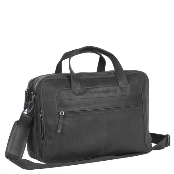 Ryan Large Laptoptasche aus Leder 42 cm black