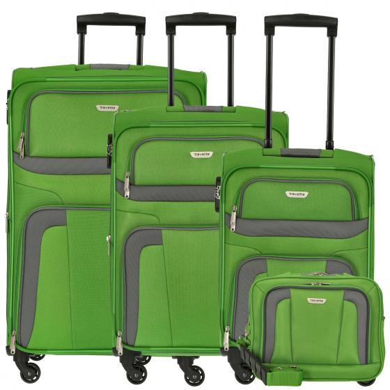 Orlando 4-Rollen-Trolley Set L erw./M erw./S + Boardtasche 4 tlg. green