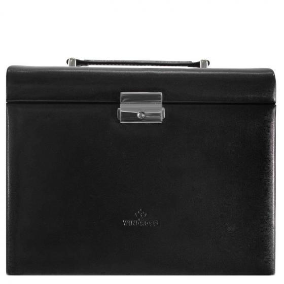 Merino Moda Schmuckkoffer mit integrierter Schmucktasche 26 cm schwarz