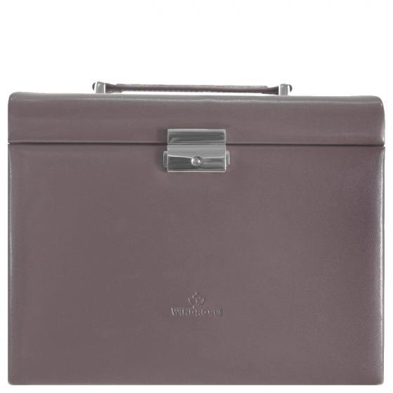 Merino Moda Schmuckkoffer mit integrierter Schmucktasche 26 cm taupe
