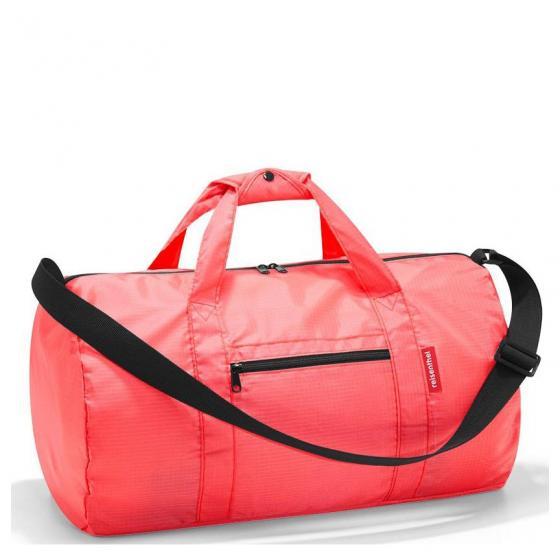 shopping mini maxi duffelbag / Reisetasche faltbar 50 cm coral