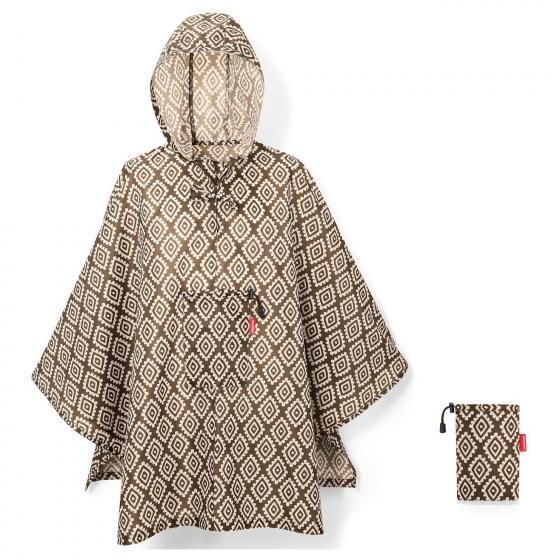 travelling mini maxi poncho / Regencape 141 cm diamonds mocha
