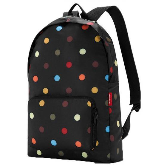 travelling mini maxi backpack / Rucksack faltbar 45 cm dots