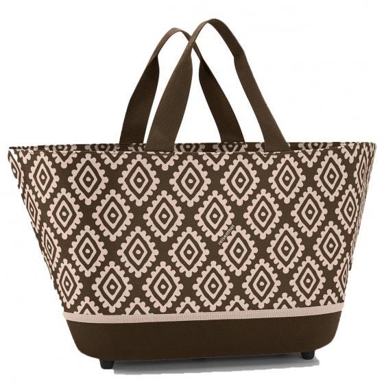 shopping shoppingbasket / Einkaufskorb diamonds mocha