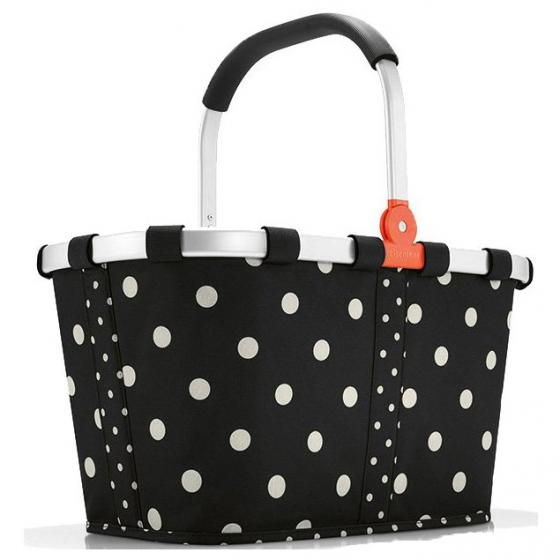 shopping carrybag / Einkaufskorb mixed dots