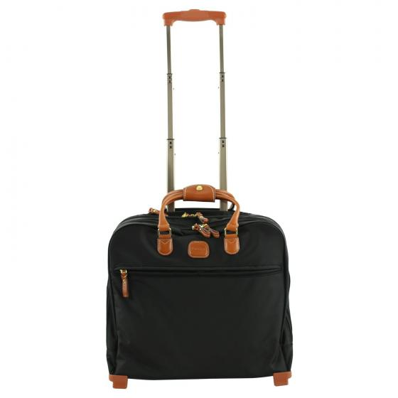 X-Travel Pilotcase Businesstrolley 40,5 cm black cognac
