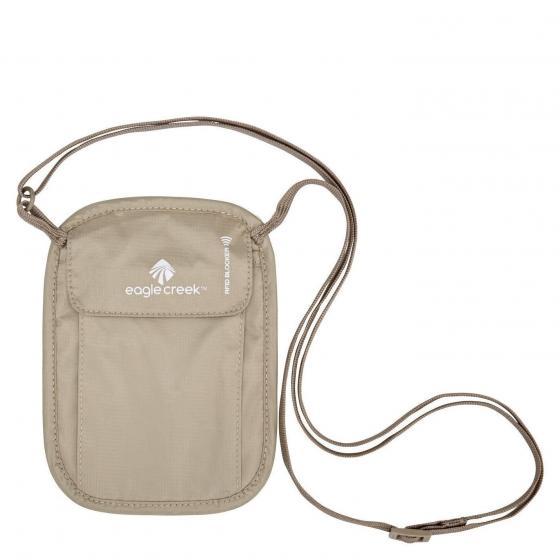 Reisezubehör (Travel Security) RFID Blocker Neck Wallet Brustbeutel 18 cm tan