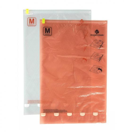 Compression Sac Set M/M / Kompressionsbeutel clear flame orange