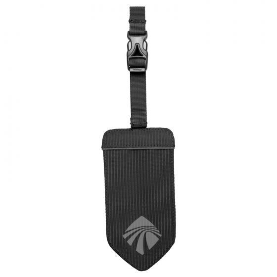 Reflective Luggage Tag / reflektierender Kofferanhänger black