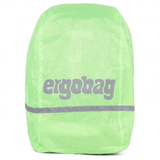 Zubehör Regencape Regenhülle (Passend für alle ergobag-Modelle) grün reflekt/fluoresz